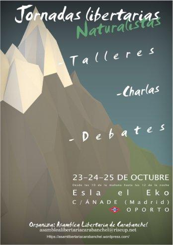 I Jornadas Naturalistas Libertarias en el EKO 23, 24 y 25 de octubre