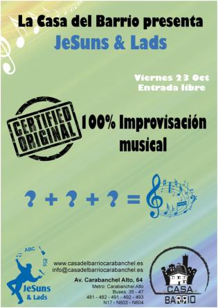 Improvisación musical el viernes 23 de octubre Casa del Barrio