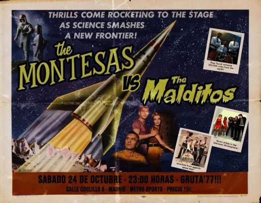 The Montesas en el Gruta 77 el 24 de octubre