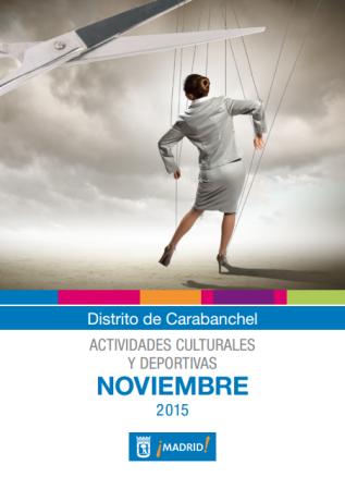 Actividades culturales Carabanchel Ayuntamiento noviembre 2015