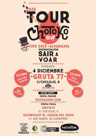 Chotokoeu en el Gruta 77 el 4 de diciembre