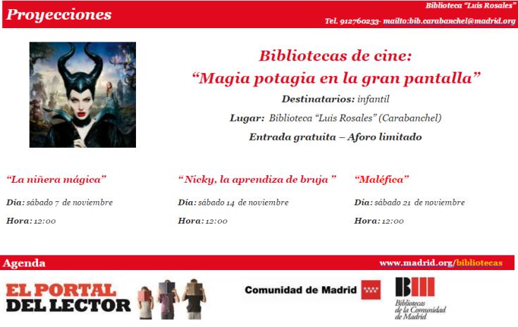 Ciclo de cine infantil en la biblioteca Luis Rosales en noviembre