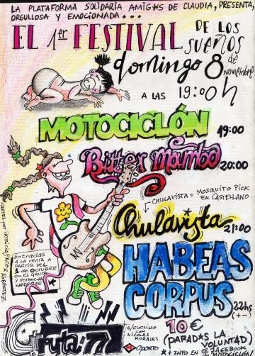Festival solidario en Gruta 77 Motociclón Habeas Corpus