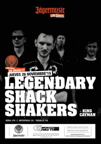 Legendary Shack Shaker en el Gruta 77 el 26 de noviembre
