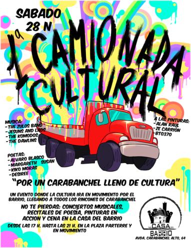 Primera camionada cultural el 28 de noviembre