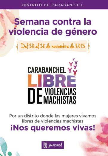 Semana contra la violencia de género en Carabanchel