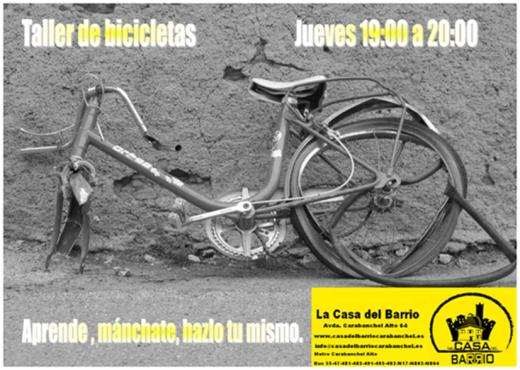 Taller de bicicletas en La Casa del Barrio