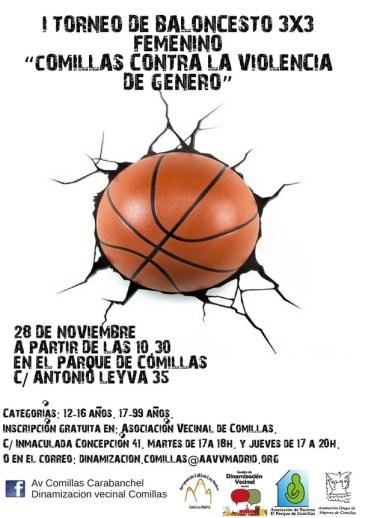 Torneo 3 contra 3 femenino Comillas 28 de noviembre
