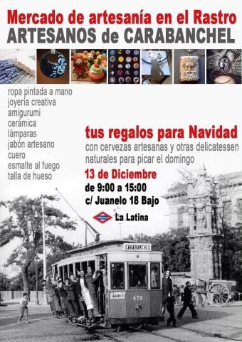 Artesanos de Carabanchel en La Latina el 13 de diciembre