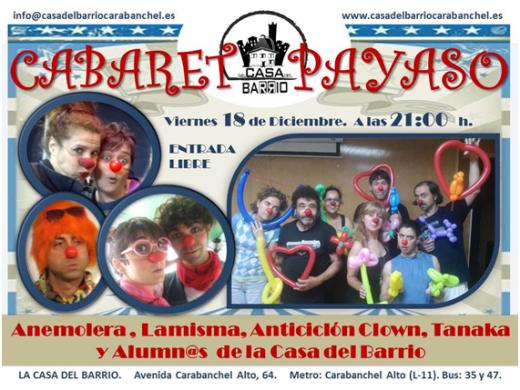 Cabaret Payaso en La Casa del Barrio