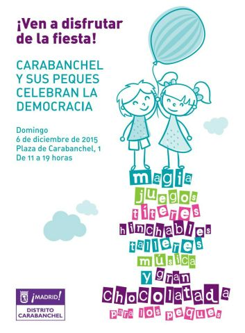 Carabanchel y sus peques celebran la democracia el 6 de diciembre