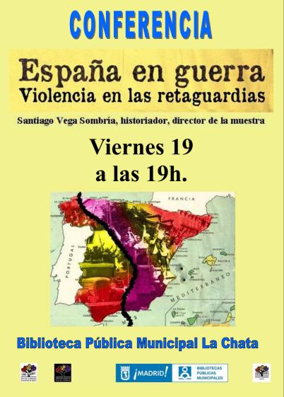 Conferencia España en guerra, violencia en las retaguardias el viernes 19 de febrero en la biblioteca La Chata