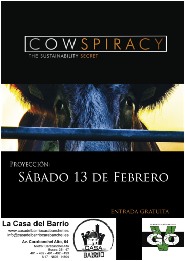 Proyección y debate de documental Cowspiracy Casa del Barrio