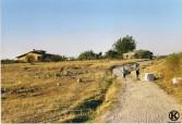 Camino de Polvoranca (1997), casa de Vicente Morales a la izquierda y casa de Pedro junto al camino