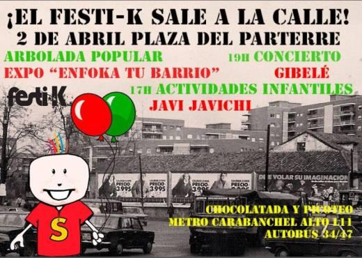 El Festi-k sale a la calle 2 de abril en la Plaza del Parterre