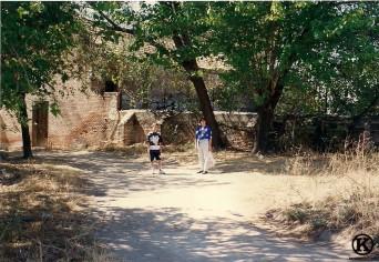 Finca del señor Luis (actual parque de la Peseta). Había un estanque con peces de colores (1995)