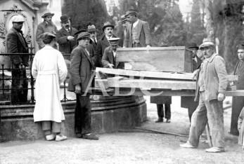 Traslado de los restos de Goya del Cementerio de San Isidro (1919)