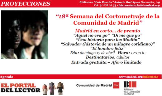 18ª Semana del Cortometraje de la Comunidad de Madrid el 17 de abril en la biblioteca Luis Rosales.png