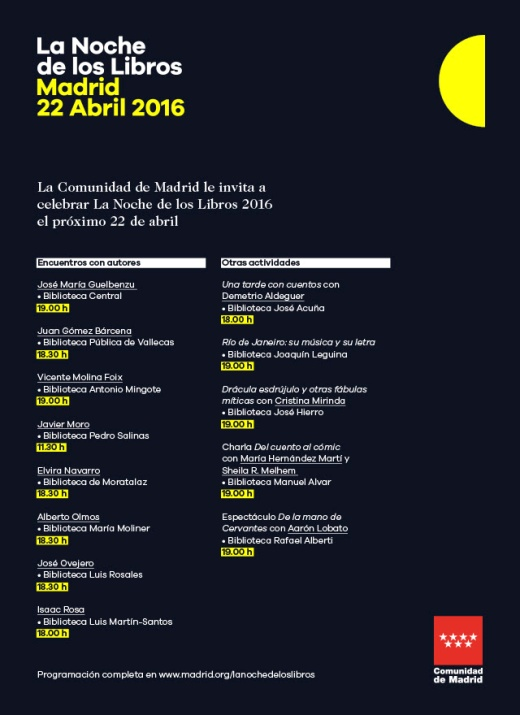 Encuentro con Javier Ovejero el 22 de abril en la biblioteca Luis Rosales