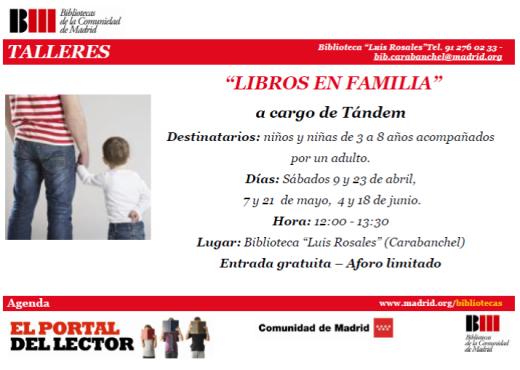 Libros en familia en la biblioteca Luis Rosales
