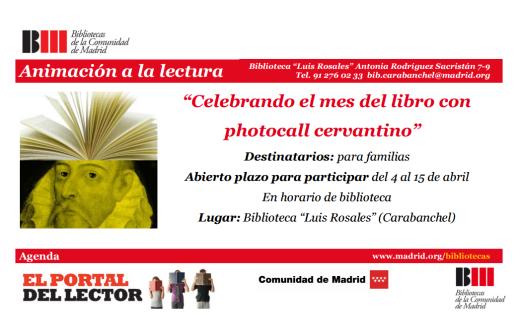 Photocall cervantino en la biblioteca Luis Rosales del 4 al 15 de abril