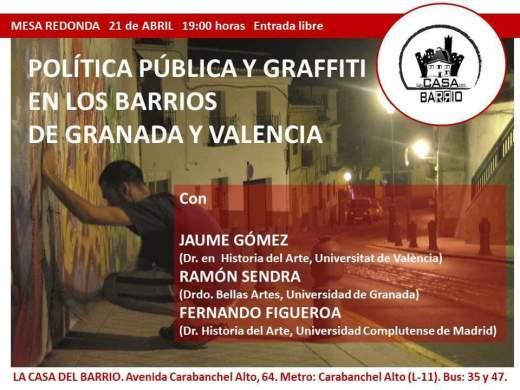 Politica publica y graffiti en los barrios de Granada y Valencia