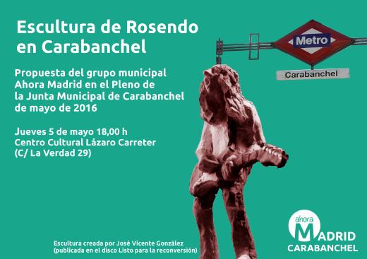 Propuesta Ahora Madrid Escultura Rosendo
