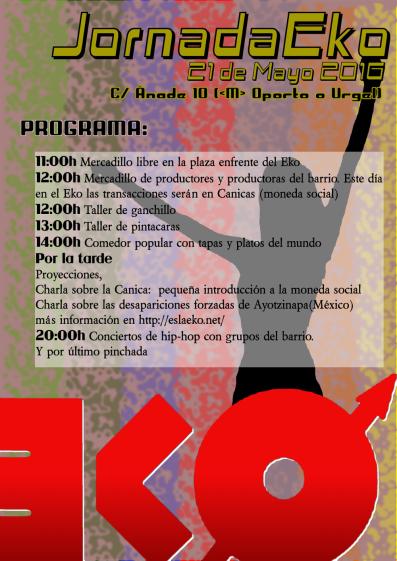 Jornada Eko y Mercadillo libre el 21 de mayo