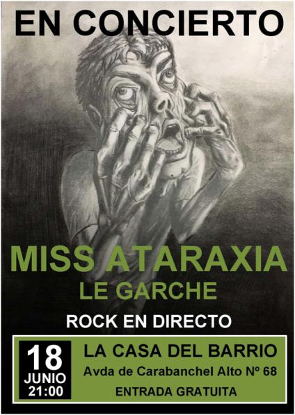 Concierto acústico de Miss Ataraxia el 18 de junio en La Casa del Barrio