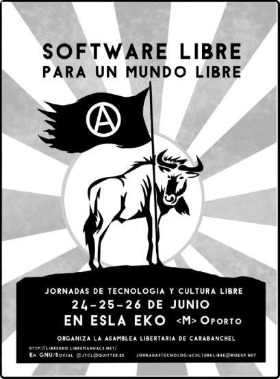 Jornadas de Tecnologia y Cultura Libre el 24, 25 y 26 de junio en el EKO