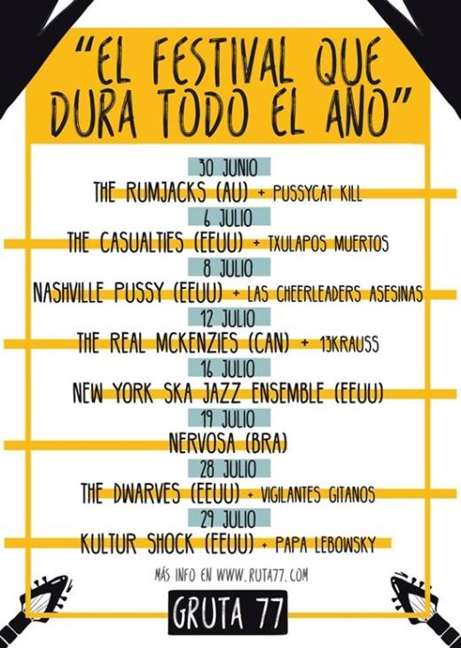 Gruta 77 El festival que dura todo el año julio 2016