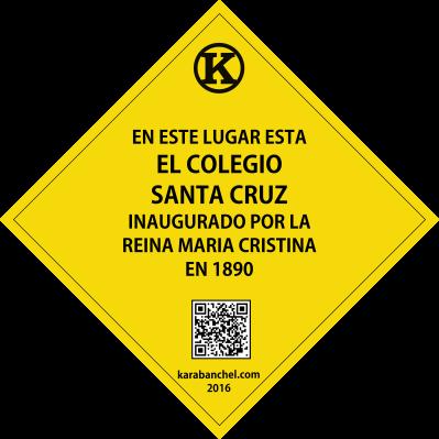 Placa 24. Colegio Santa Cruz