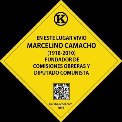 Placa 30. Casa de Marcelino Camacho en Carabanchel