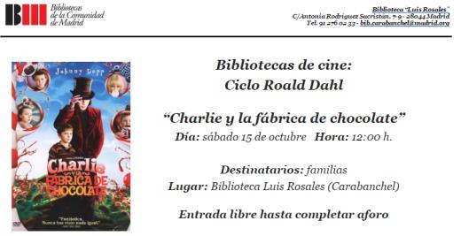 Charlie y la fábrica de chocolate en la biblioteca Luis Rosales.png