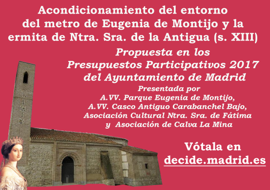 Cartel propuesta Metro Eugenia de Montijo Presupuestos Participativos