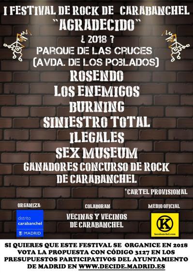 I Festival de rock de Carabanchel Agradecido