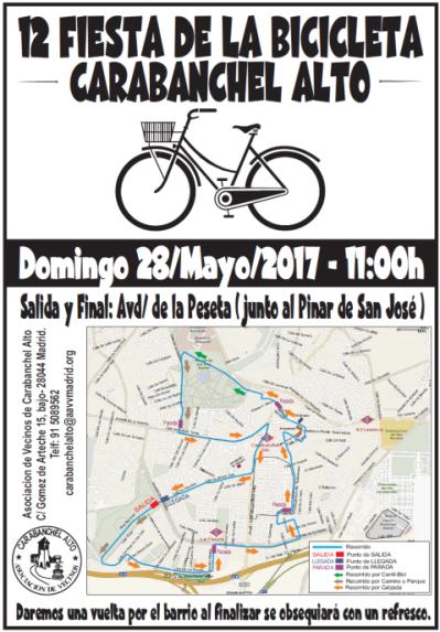 12 Fiesta de la bicicleta de Carabanchel Alto el 28 de mayo.png