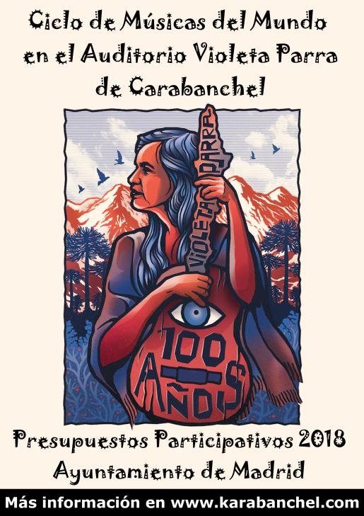 Ciclo de Músicas del Mundo en Auditorio Violeta Parra