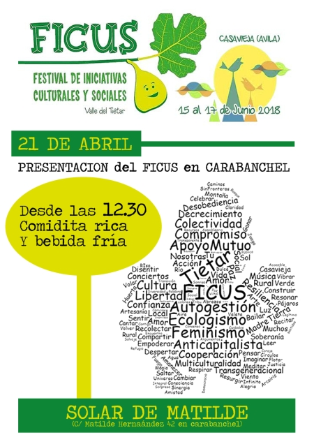 Presentación del Festival Ficus el 21 de abril en Matilde