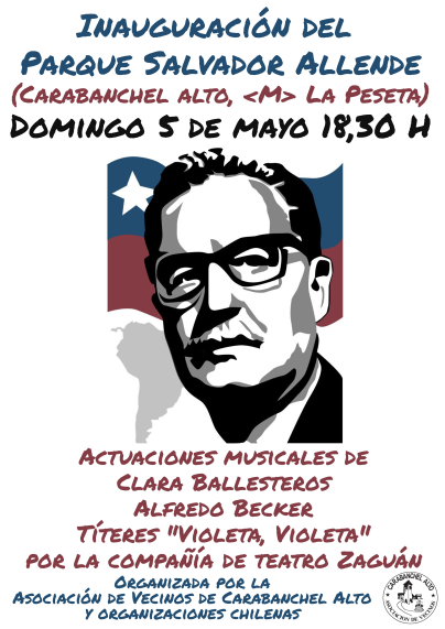 Cartel Inauguración Parque Salvador Allende-1