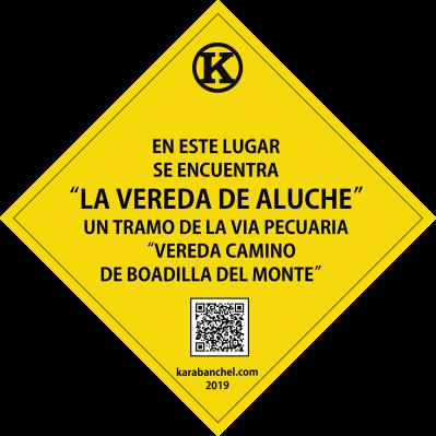 Placa 37. Vía pecuaria Vereda de Aluche